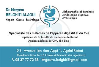 Carte visite Dr Belghiti alaoui meryem.p