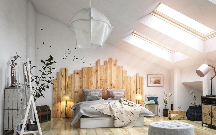 Chambre avec tete de lit bois.jpeg