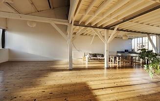 wide loft, beams and wooden floor.jpg