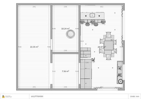 Plans d'un projet de Renovation