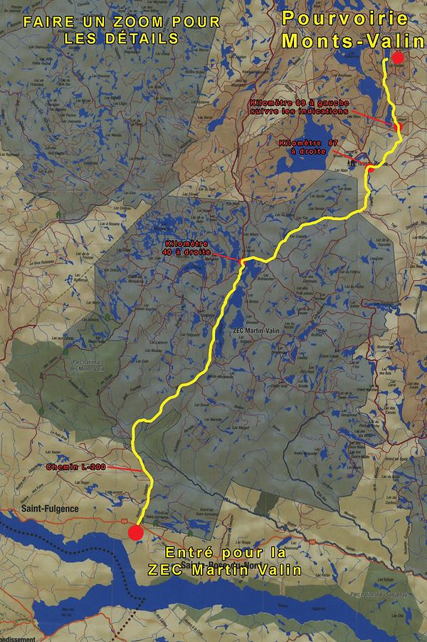 Chemins et territoire | Chasse & Pêche |Pourvoirie Monts-Valin du Archer| Québec