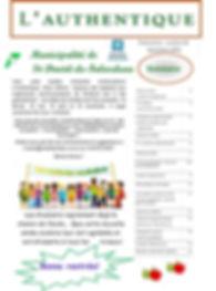 journal municipal l'authentique Falardeau