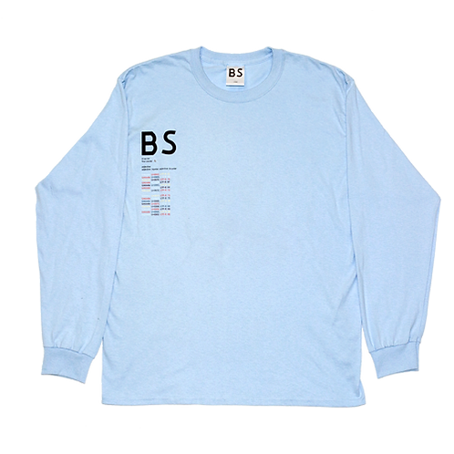 'BIPOLAR SUNSHINE' LONG SLEEVE HAWAIIAN BLUE