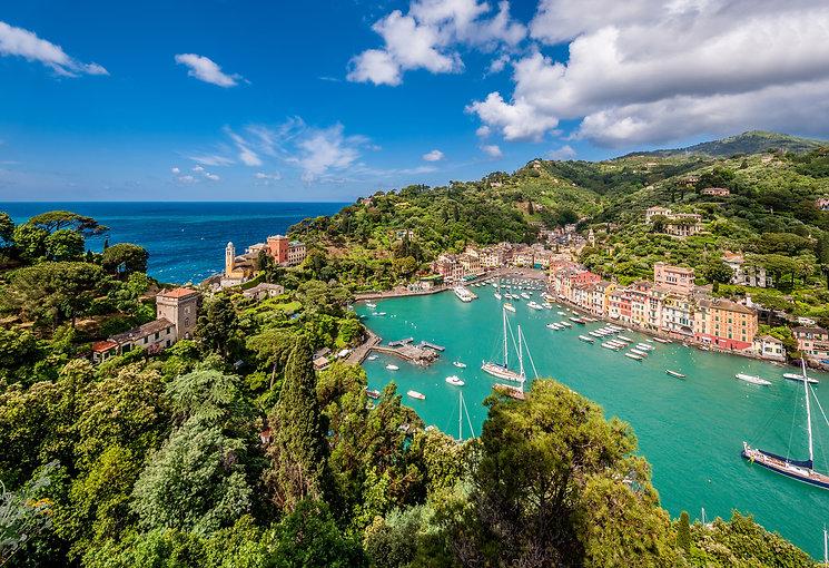 Portofino village on Ligurian coast in I