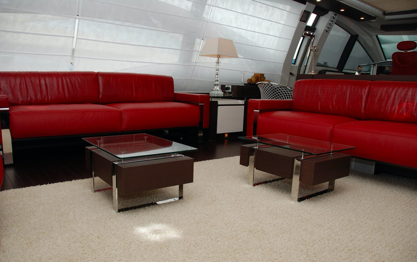 The Red Lounge on the main deck