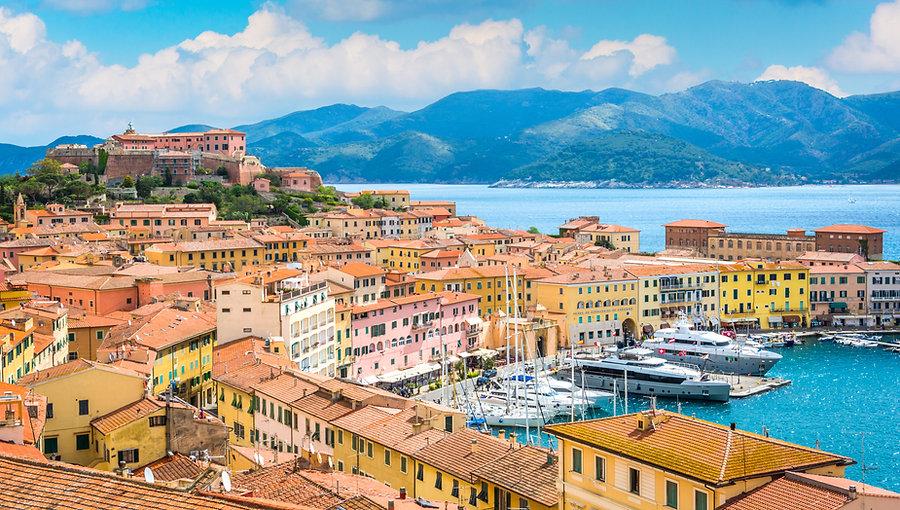 Panoramic sight of Portoferraio in Elba