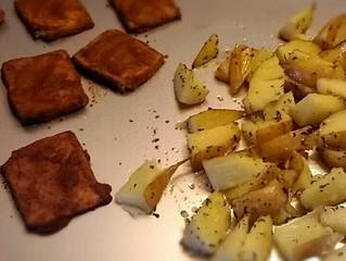 Bistecche di Tofu e patate al forno