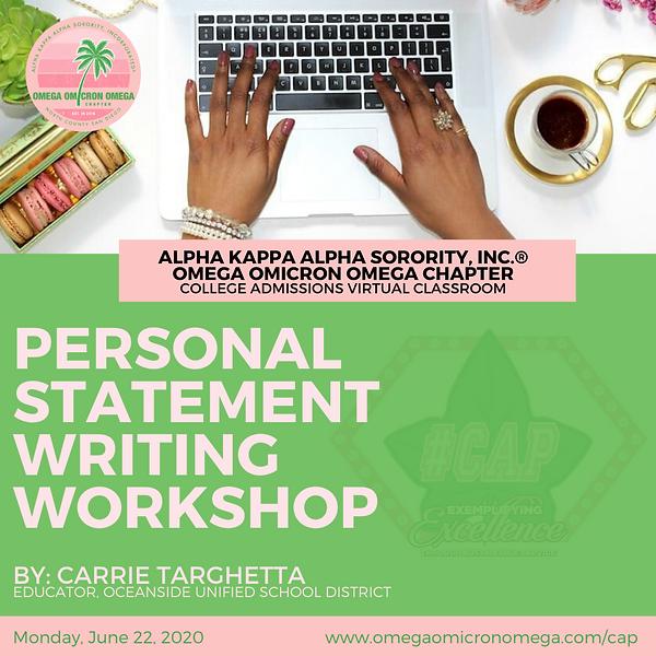 Personal statement writing workshop Mond