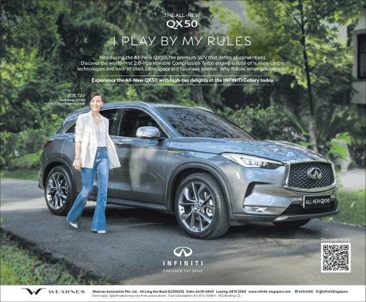 INFINITI QX50 Play By My Rules Print Ad