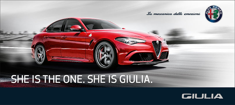 Alfa Romeo She is The One She is Giulia Print Ad