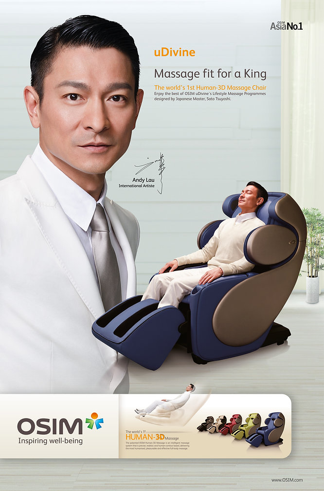 OSIM uDivine Print Ad Massage Fit For A King Feauting Andy Lau