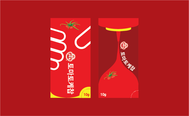 OTTOGI Ketchup package Design