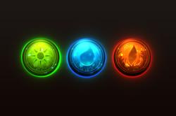 Ground, Water, Fire   ICON