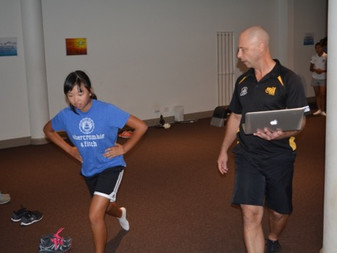 Our specialist fitness coach for our juniors, Richard, conducts a fitness test