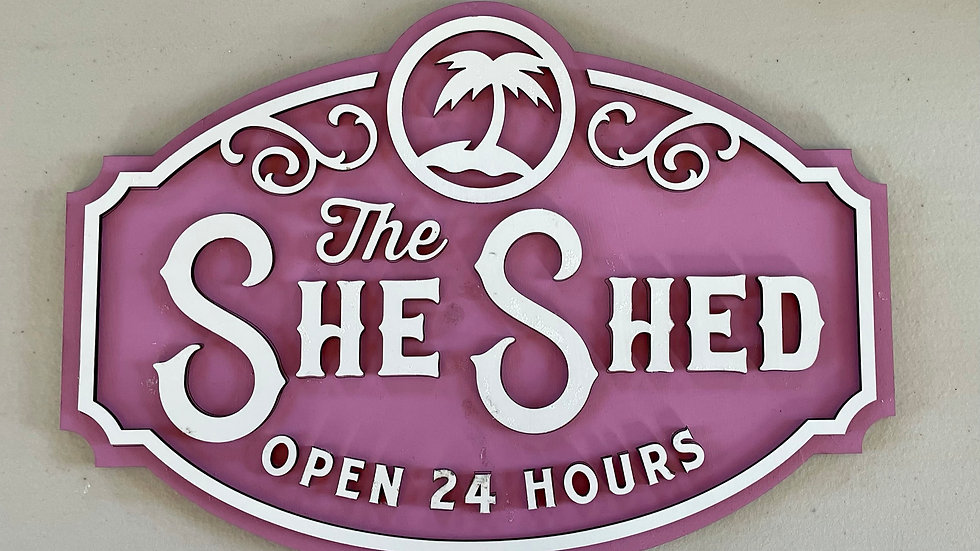 Hand Made She Shed Sign