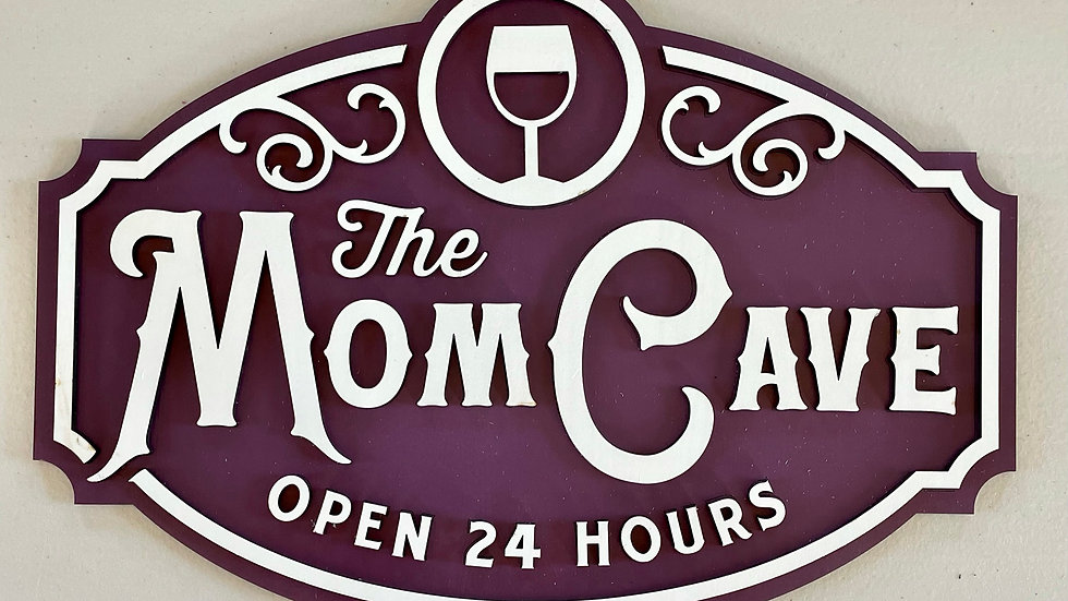 Hand Made Mom Cave Sign