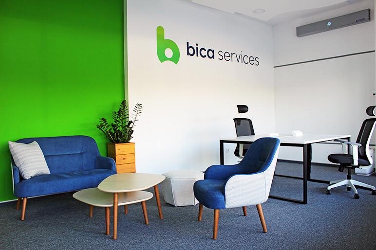 Custom interior design branding, Campus X, Sofia