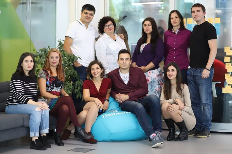 Team of FindMeCure at Campus X offices in Sofia