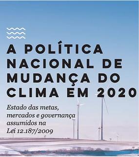 A Política Nacional de Mudança do Clima em 2020