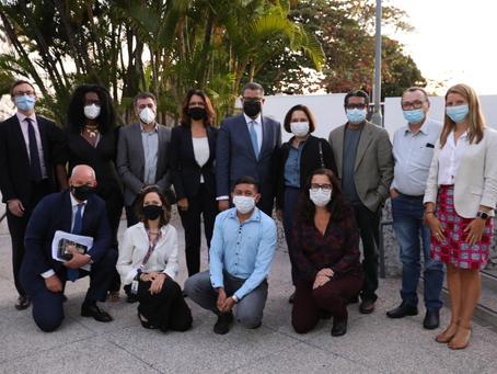 Presidente designado da COP26 visita Brasil