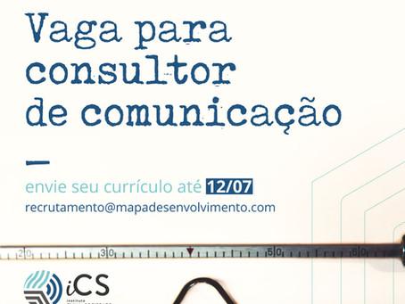 [OPORTUNIDADE] Vaga para consultor(a) de comunicação estratégica