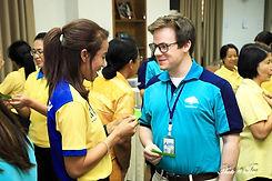 ครูฝรั่ง จัดอบรมภาษาอังกฤษพนักงาน