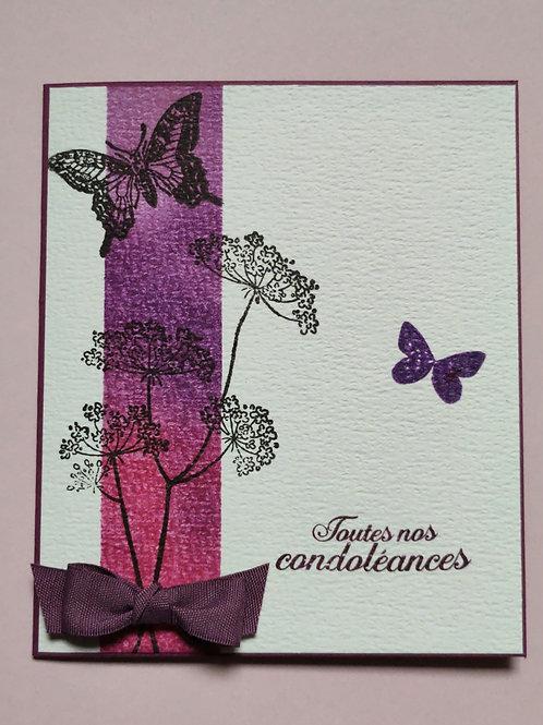 Carte de condoléances féminine