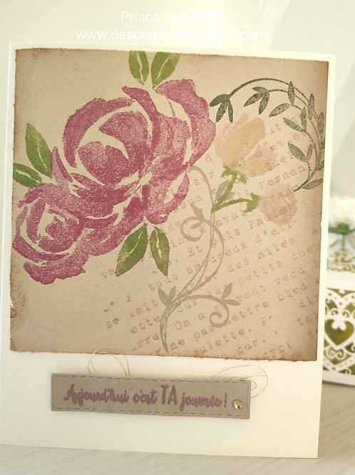Carte vintage romantique