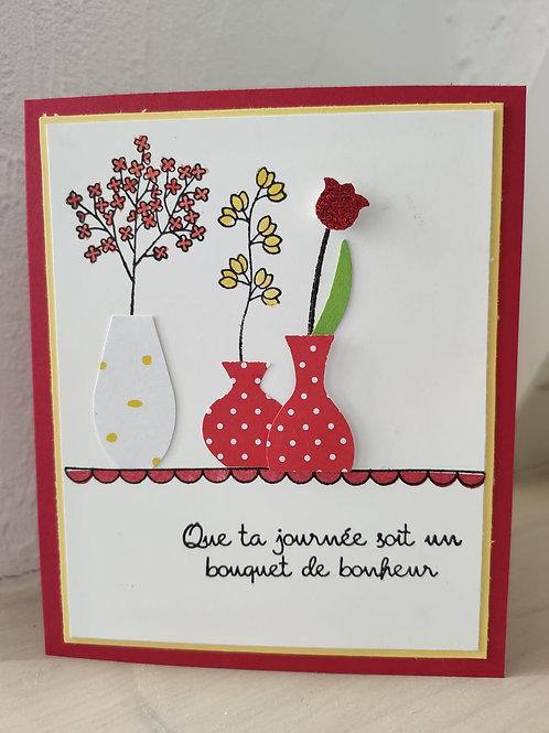"""Carte """"Vases écarlates"""""""