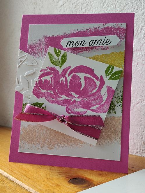 Carte tout en rose