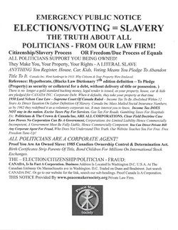 Voting IS Slavery Notice Poster