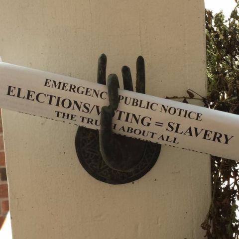 Voting Slavery Hand