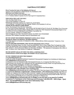Legal Slavery Fact Sheet