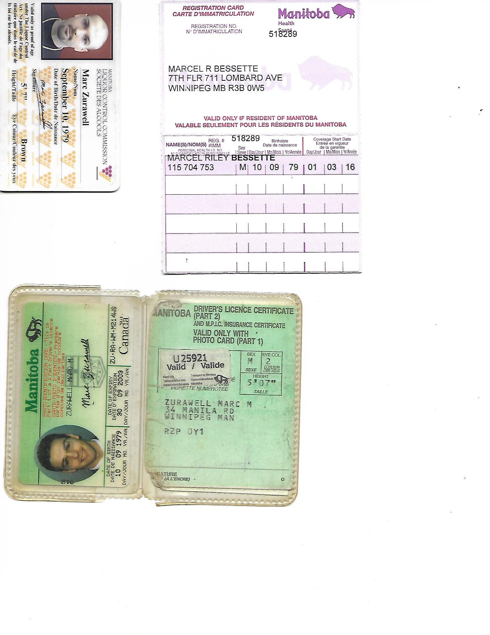 L.C. Card, Exp License, Health Card