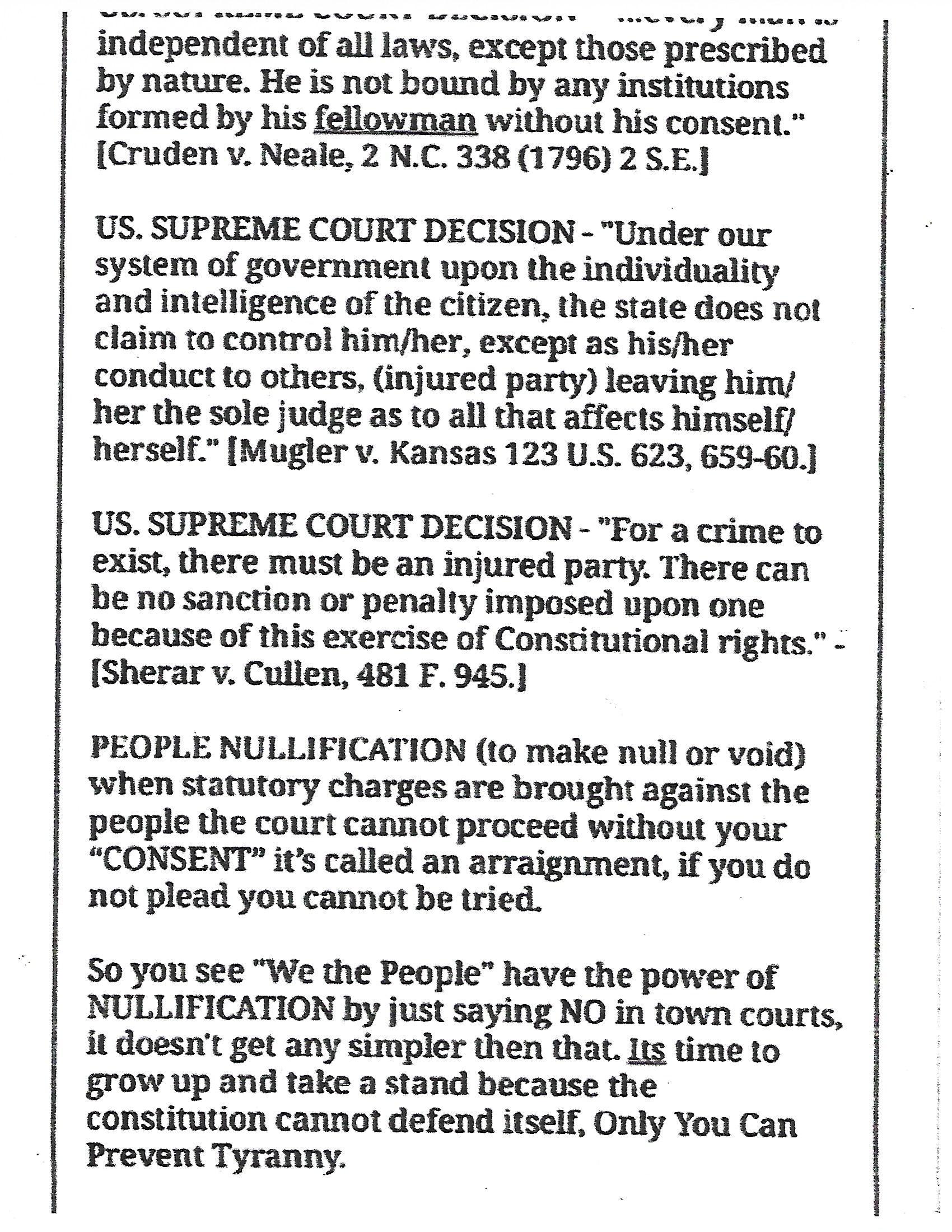 Freedom Supreme Court Case Law