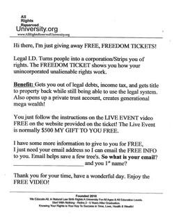 Freedom Ticket Script