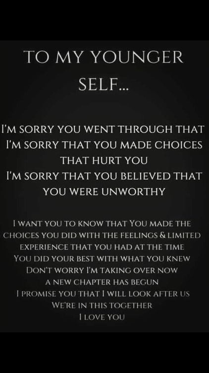 To My Former Self
