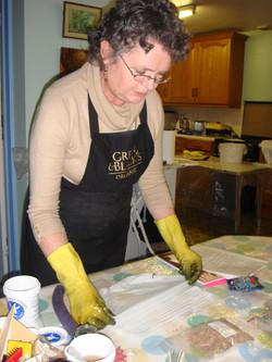 Jenny Demo folding.