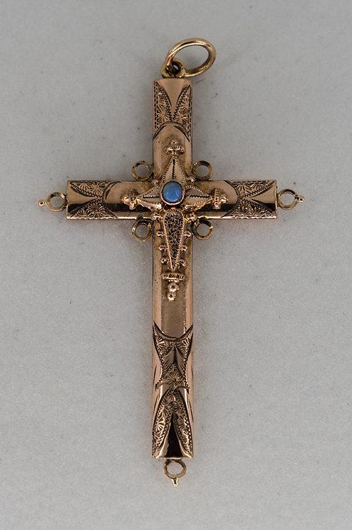 Kreuz mit Türkis