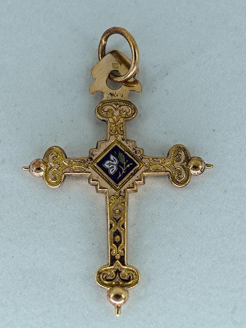 Kreuz mit Email