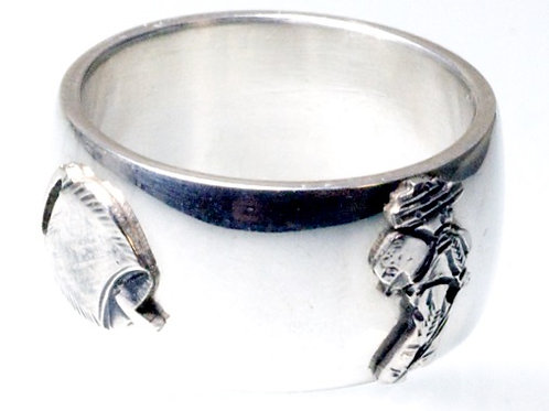 Silvesterchlausen Ring Silber