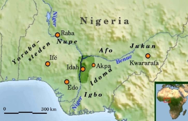 Former Igala Kingdom, triangular area formed by the Benue and Niger rivers