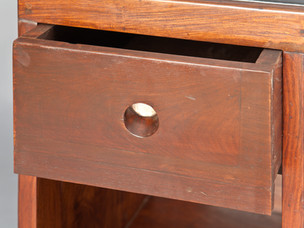 Office table, 1957–1958 [drawer detail]