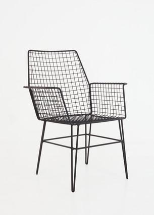 Portuguese mesh chair, 60s