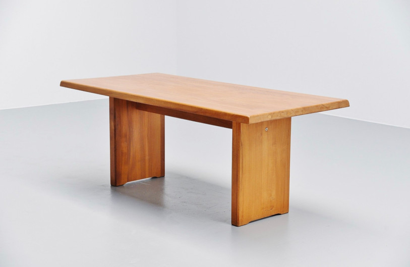 Pierre Chapo dining table model T-14, 60's