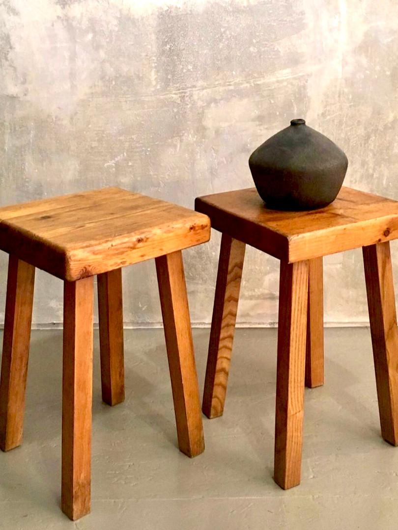 Charlotte Perriand stools, 1969