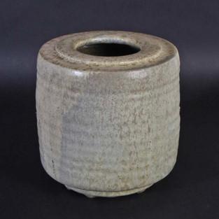 Rilled vase with rich gaze