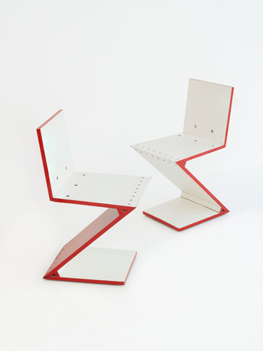 Zig Zag chair, late 20th century