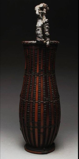 Ikebana basket, 19th c.