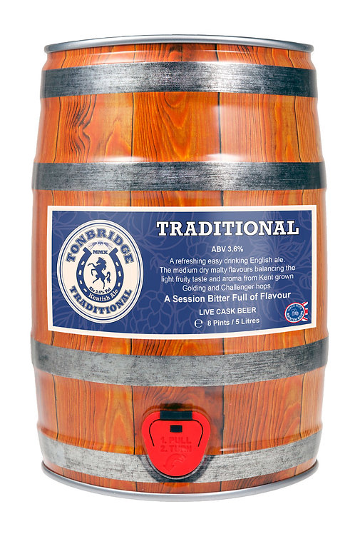 8 Pint Mini-cask of Traditional (3.6%) by Tonbridge Brewery